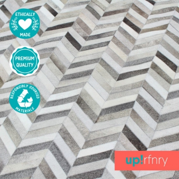 Circle Chevron Cowhide Rug